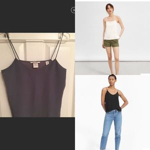 Scotch & Soda gray spaghetti strap cami tank